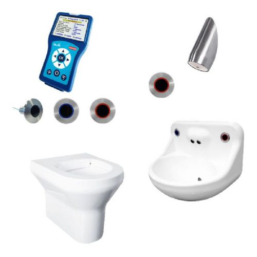 DVS Anti-Ligature High Risk Back-to-Wall Toilet, Basin & Shower Pack - Programmable Wave-On Controls